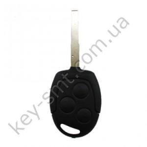 Ключ Ford Transit, 433 Mhz, 4D-63 Glass, лезвие HU101, 3 кнопки /D
