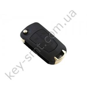 Корпус выкидного ключа Opel 3 кнопки, лезвие YM28, под переделку /D