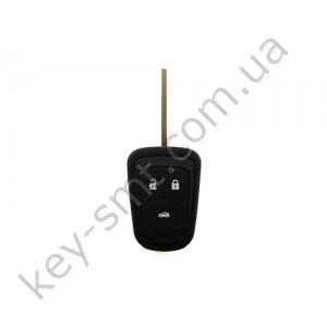 Корпус ключа Opel 3 кнопки, лезвие HU100 /D