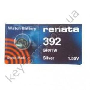 392 Renata батарейка (оксид серебра 1.55V)(7.9x3.6mm) (45mAh)