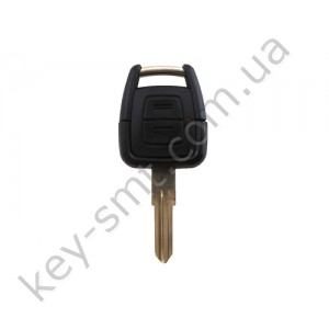 Корпус ключа Opel Astra, Vectra, Tigra и другие, 2 кнопки, лезвие HU46 /D