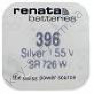 396 Renata батарейка (оксид серебра 1.55V)(7.9x2.6mm) (32mAh) (high drain) (упаковка = 1шт)