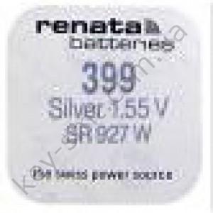 399 Renata батарейка (оксид серебра 1.55V)(9.5x2.7mm) (55mAh) (high drain)