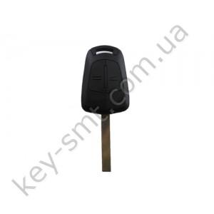 Корпус ключа Opel Vectra, Signum, 2 кнопки, лезвие HU100 /D