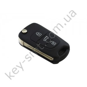 Корпус выкидного ключа Hyundai 3 кнопки, лезвие HYN14R /D