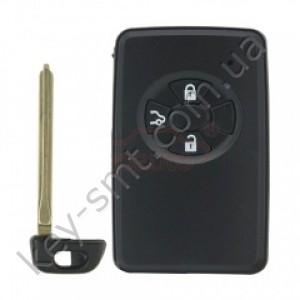 Смарт ключ Toyota Corolla, Vios, 433Mhz, B90EA Pg1:98, G-chip, 3 кнопки /D