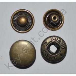 Кнопка альфа (15мм) антик (720) (4221)