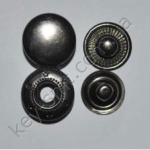 Кнопка альфа 803 Е 15мм ч,никель 720 шт  (4216)