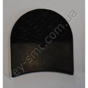 П/у набойка BOX Волна №3 (6 мм)  маленькая цв. чёрный (30239)