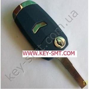 FIAT корпус выкидного ключа с 1кнопкой BLUE (23/13)