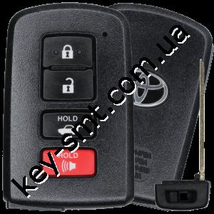 Смарт ключ Toyota Land Cruiser, Европа, 433 Mhz, BH1EW Pg1:A8, H-chip, 3+1 кнопки /D