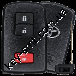 Смарт ключ Toyota Prius C, Prius V, RAV4, 315 Mhz, HYQ14FBA Pg1:88, H-chip, 2+1 кнопки /D