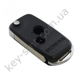 Корпус выкидного ключа Honda Accord, Civic, CR-V и другие, 2 кнопки, хром /D