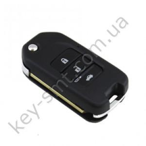 Корпус выкидного ключа Honda Accord, Civic, CR-V и другие, 3 кнопки, лезвие HON66, под большую плату /D