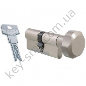 Цилиндр EVVA 3KS DZ(51x51T)ключ/поворотник  никель 3 ключа
