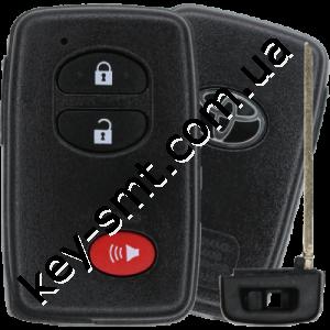 Смарт ключ Toyota Rav4, Highlander, 315Mhz, HYQ14AAB Pg1:D4, ID4D, 2+1 кнопки /D