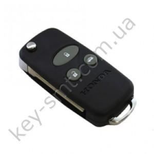 Корпус выкидного ключа Honda Accord, Pilot, Civic, Odyssey и другие, 3 кнопки, под переделку, с резинками /D