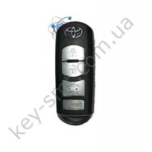 Смарт ключ Toyota Yaris, Yaris iA, 315 Mhz, WAZSKE13D01/ 02, PCF7953P/ Hitag Pro/ ID49, 3+1 кнопки /D