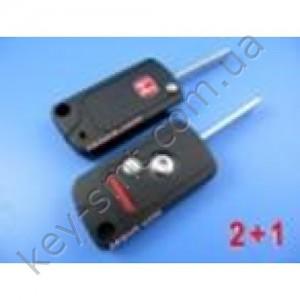 HONDA Корпус выкидного ключа с 2+1 кноп+паник (M125)