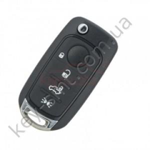 Корпус выкидного ключа Fiat 500X, Tipo, 4 кнопки, лезвие SIP22, тип 2 /D