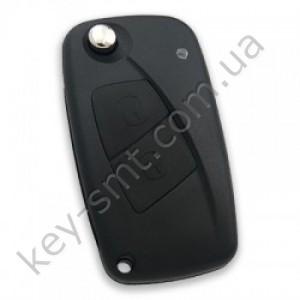 Корпус выкидного ключа Fiat, 3 кнопки, лезвие SIP22, крепление батарейки сбоку, черный /D