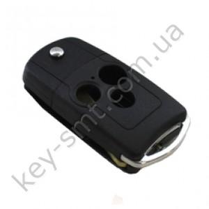 Корпус выкидного ключа Honda Accord, Pilot, Civic, Odyssey и другие, 3 кнопки, хром. дужка /D