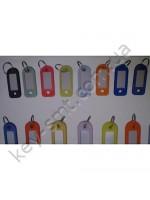 Бирка для ключа разноцветная (номерки-идентификаторы)  (в упаковке 100 штук)/Canas/