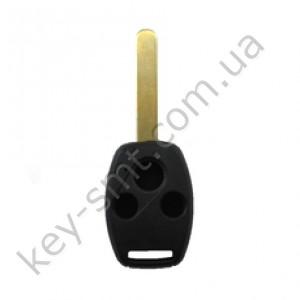 Корпус ключа Honda Accord и другие, 3 кнопки, лезвие HON66, без места под чип /D