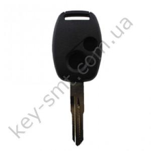 Корпус ключа Honda Accord, Honda Civic и другие, 2 кнопки, лезвие HON66, с местом под чип /D