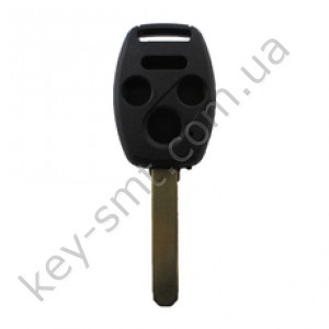 Корпус ключа Honda Accord, Honda Civic и другие, 3+1 кнопки, лезвие HON66, без места под чип /D