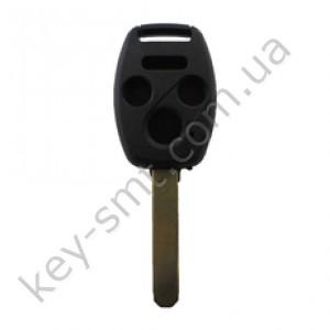 Корпус ключа Honda Accord, Honda Civic и другие, 3+1 кнопки, лезвие HON66, с местом под чип /D