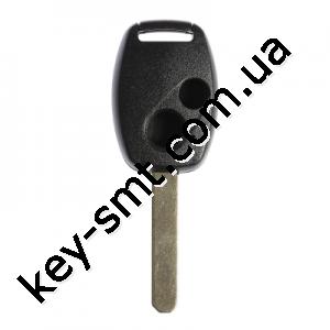 Корпус ключа Honda Civic, Honda Jazz и другие, 2 кнопки, лезвие HON66, без места под чип /D