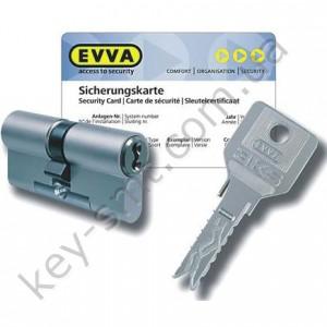 Цилиндр EVVA 3KS DZ(56x56)ключ/ключ никель 3 ключа