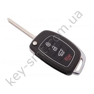 Корпус выкидного ключа Hyundai 3+1 кнопки, лезвие TOY48, новый стиль  /D/СУПЕР КАЧЕСТВО С ЛОГОТИПОМ !