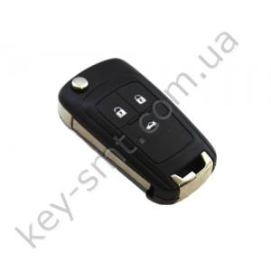 Корпус выкидного ключа Opel Insigna, Astra и другие, 3 кнопки, лезвие HU100 /D/СУПЕР КАЧЕСТВО С ЛОГОТИПОМ !