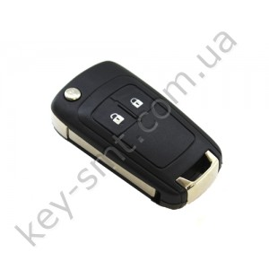Корпус выкидного ключа Opel Insigna, Astra, Zafira и другие, 2 кнопки, лезвие HU100 /D/СУПЕР КАЧЕСТВО С ЛОГОТИПОМ !