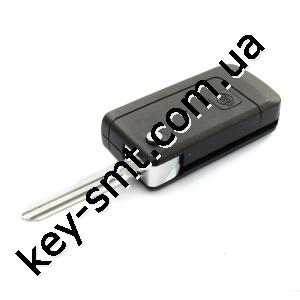 Корпус выкидного ключа Nissan Bluebird, 1 кнопка, лезвие NSN11, под переделку /D