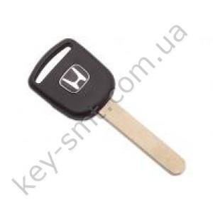 Корпус ключа с местом под чип Honda Accord, Civic и другие, лезвие HU66, лого хром /D