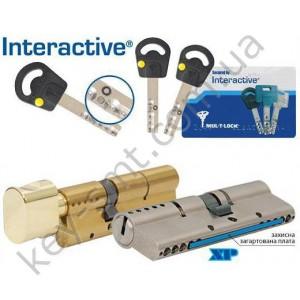 Цилиндр MUL-T-LOCK INTERACTIVE (35х35Т)к/п никель сатин