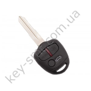 Корпус ключа Mitsubishi L200, Pajero 3 кнопки, лезвие MIT8 /D/СУПЕР КАЧЕСТВО С ЛОГОТИПОМ !