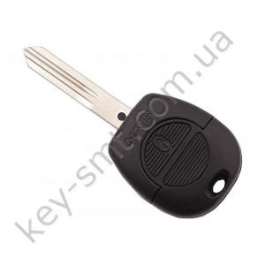 Корпус ключа Nissan Almera, Primera и другие, 2 кнопки, лезвие NSN14 /D
