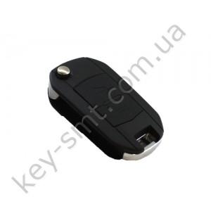 Корпус выкидного ключа Opel 2 кнопки, лезвие HU100, под переделку, тип 1 /D