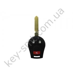 Корпус ключа Nissan Juke, Micra и другие, 2+1 кнопки, лезвие NSN14 /D