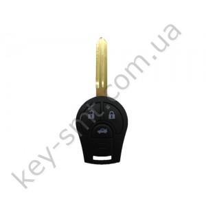 Корпус ключа Nissan Juke, Qashqai и другие, 3 кнопки, лезвие NSN14 /D