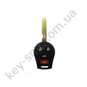 Корпус ключа Nissan Juke, Qashqai, 3+1 кнопки, лезвие NSN14 /D