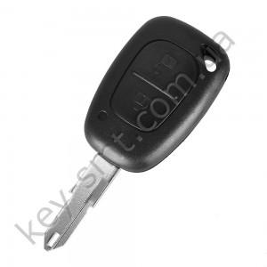 Корпус ключа Nissan Primastar, Interstar и другие, 2 кнопки, лезвие NE72 /D
