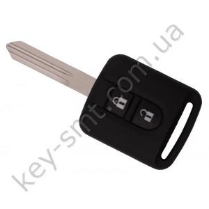 Корпус ключа Nissan, 2 кнопки, лезвие NSN14, с логотипом /D