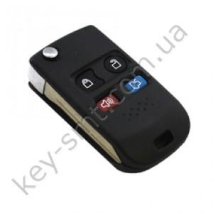 Корпус выкидного ключа Ford Explorer, WindStar и другие, 3+1 кнопки, лезвие FO38R, под переделку /D