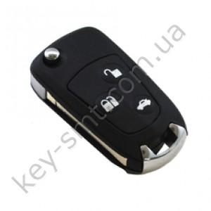 Корпус выкидного ключа Ford Mondeo, Focus и другие, 3 кнопки, лезвие HU101, под переделку /D