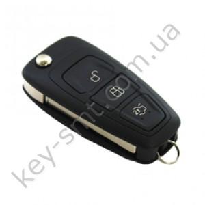 Корпус выкидного ключа Ford Mondeo 3 кнопки, лезвие FO-21 /D